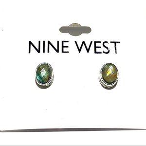 3/$25 Nine Weat Green Yellow Gem Mod Stud Earrings